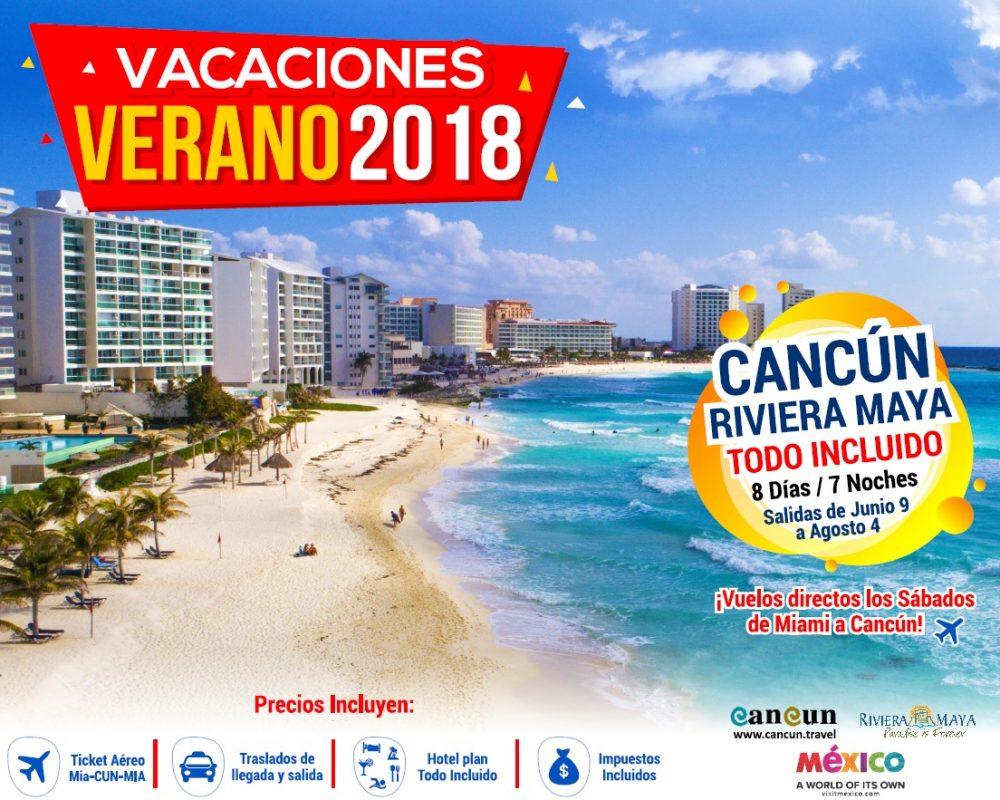 Vacaciones Cancun verano 2018 desde miami doral travel int