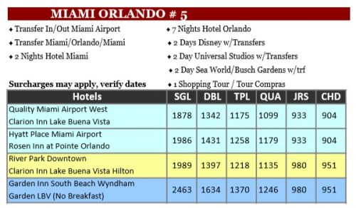 Miami Orlando 5 Doral Travel int