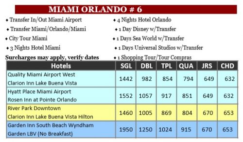 Miami Orlando 6 Doral Travel int