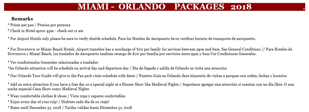 Miami Orlando Packages Doral travel int in Mimai travel Agency